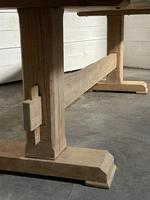 Primitive French Bleached Oak Farmhouse Dining Table (5 of 20)