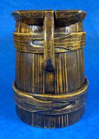 19th Century Beech & Pine Treen Tankard (4 of 11)
