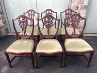 Antique Set of 8 Mahogany Dining Chairs (6 of 10)
