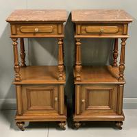 Pair of French Walnut Bedside Cabinets (4 of 8)