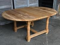 Round Farmhouse Dining Table with leaf (11 of 11)