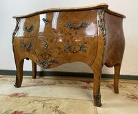 French Chest of Drawers Bombe Commode with Marble Top (2 of 12)