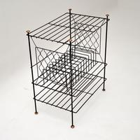 1960's Vintage Steel & Copper Record Rack / Table (5 of 8)