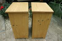 Fabulous! 'Chunky' Pair of Old Pine Bedside Cabinets - We Deliver! (7 of 8)