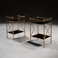 Pair of Maison Bagues Brass & Glass Etageres Louis XVI Style (5 of 5)