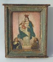 Antique Oil Painting Madonna & Child Murillo 18th Century (4 of 8)