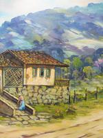 Large oil on canvas tropical sunshine view Brazilian artist Chediac (6 of 10)