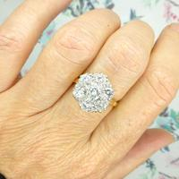 Impressive Vintage 18ct gold diamond cluster engagement ring 1.40 carat ~ With Independent Valuation (6 of 9)