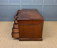 Early Victorian Mahogany Pedestal Desk by M Wilson of London (16 of 16)