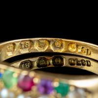Antique Victorian Dearest Gemstone Ring 18ct Gold Dated 1889 (5 of 7)