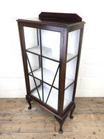Antique Edwardian Single Door Display Cabinet (8 of 9)