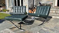 Pair of Barcelona Chairs & Ottoman (25 of 30)