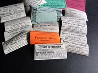 Collection Of Original Edwardian Chemist Labels relating to Ross on Wye Herefordshire (2 of 2)