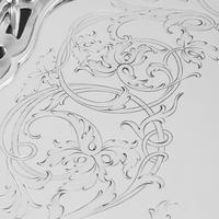 Exceptional Large Solid Sterling Silver Victorian Salver/tray/platter 47cm with Cast Border - Hunt & Roskell - Storr Mortimer & Hunt (20 of 29)