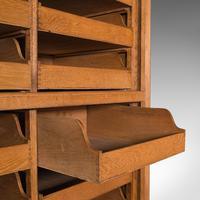 Very Large Antique Haberdashery Cabinet, Oak, Collector, Shop, Rack, Edwardian (9 of 12)