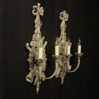 Italian Polychrome Pair of Twin Arm Wall Lights (10 of 10)