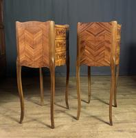 Pair of French Inlaid Tulipwood Bedside Tables (5 of 11)