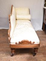 Regency Chaise Longue Sofa Walnut Lounge Day Bed (16 of 25)