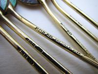 Superb Vintage Solid Sterling Silver Gilt & Enamel English Hallmarked Coffee Spoons Cased Boxed Set 1953 (6 of 10)