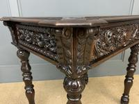 Good 19th Century Carved Oak Table (9 of 15)