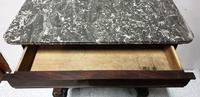 French Mahogany & Marble Console Table (2 of 16)