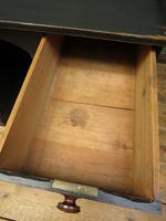 Black Painted Writing Desk with Drawers, Gothic Shabby Chic (8 of 15)