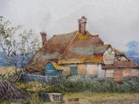Pair of Watercolours Cottages in Kent Listed Artist Will Anderson (7 of 10)