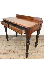 Antique Victorian Mahogany Two Drawer Side Table (8 of 15)