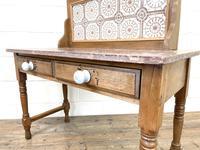 Antique Pine Tile Back Washstand (14 of 15)