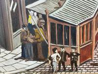 """Figurative Art Oil Painting Manchester Market Place """"The Street Traders"""" by Patrick Burke (10 of 34)"""