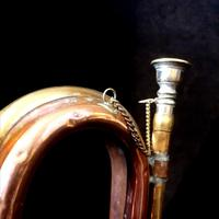 9th Lancers Antique Bugle, Copper & Brass c.1900 (2 of 6)