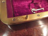 Antique Paris Made Leather & Gilt Bound Jewellery Case (5 of 9)