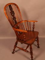 Yew Wood High Windsor Chair c.1850 (2 of 9)