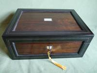 Large Inlaid Rosewood Jewellery – Work Box + Tray c.1840 (12 of 12)