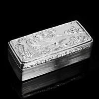 Georgian Solid Silver Snuff Box with Pheasant Scene - Thomas Shaw 1834 (26 of 28)