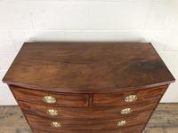 19th Century Mahogany Bow Front Chest of Drawers (4 of 18)