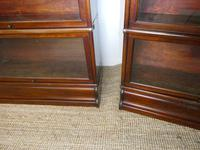 Pair of English Stamped Globe Wernicke Bookcases (7 of 9)