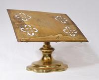 Victorian Gothic Reading Stand Antique Brass 1860 Lecturn (5 of 9)