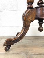 Victorian Walnut Oval Tilt Top Occasional Table (M-1713) (8 of 11)