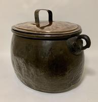 Large Antique Copper Cauldron with Lid (14 of 16)