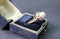 Gold Pearl and Diamond Set Ring (3 of 4)