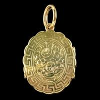 Antique Victorian Family Floral Locket 9ct Gold c.1900 (2 of 7)