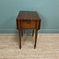 Rare Regency Rosewood Small Antique Pembroke Table (4 of 7)