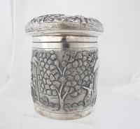 Outstanding quality Bhowanipore antique silver lidded pot Calcutta c 1890 (11 of 11)
