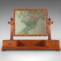 Antique Dressing Mirror, English, Mahogany, Boudoir, Pedestal Base, Victorian (3 of 12)