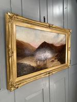 Antique Scottish landscape oil painting with Highland Cattle signed M Allinson 1 of 2 (4 of 10)