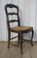 Six Oak & Rush Seated Dining Chairs (2 of 8)