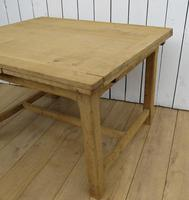 Antique Bleached Oak Extending Dining Table (3 of 10)