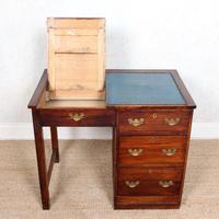 Edwardian Oak Pedestal Writing Desk (6 of 12)