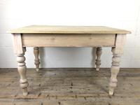 Rustic Antique Pine Farmhouse Kitchen Table (7 of 12)